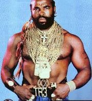 Picture of Mr. T Wearing Gold Chains