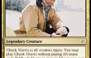 Chuck Norris Magic the Gathering Card: Legendary Creature