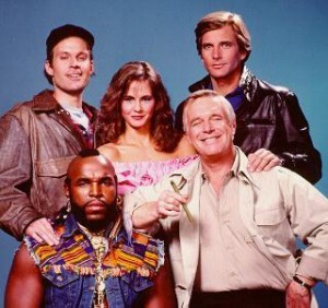 Picture of Mr. T and The A-Team!!