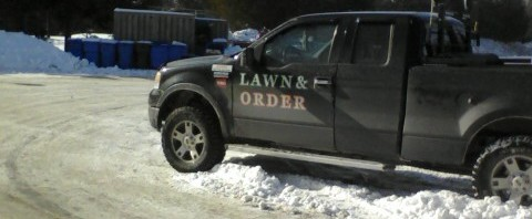 Chuck Norris Truck Lawn and Order