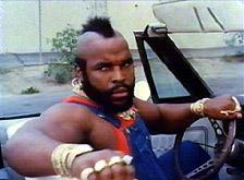 "Picture of Mr. T in a Car – ""Whatchu lookin' at fool!"""