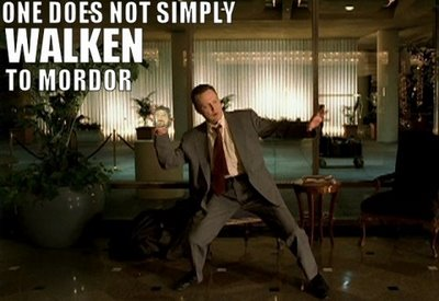 One Does Not Simply Walken To Mordor