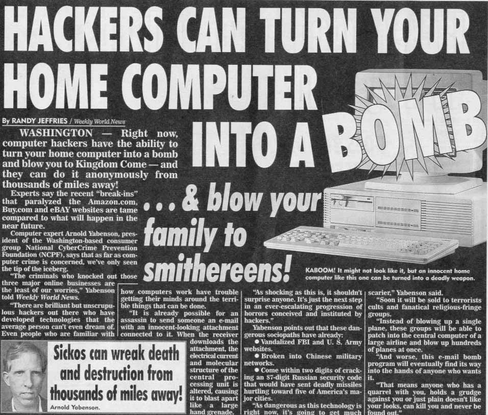 Hackers can turn your home computer into a bomb and blow your family