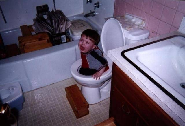 Kid Stuck in Toilet